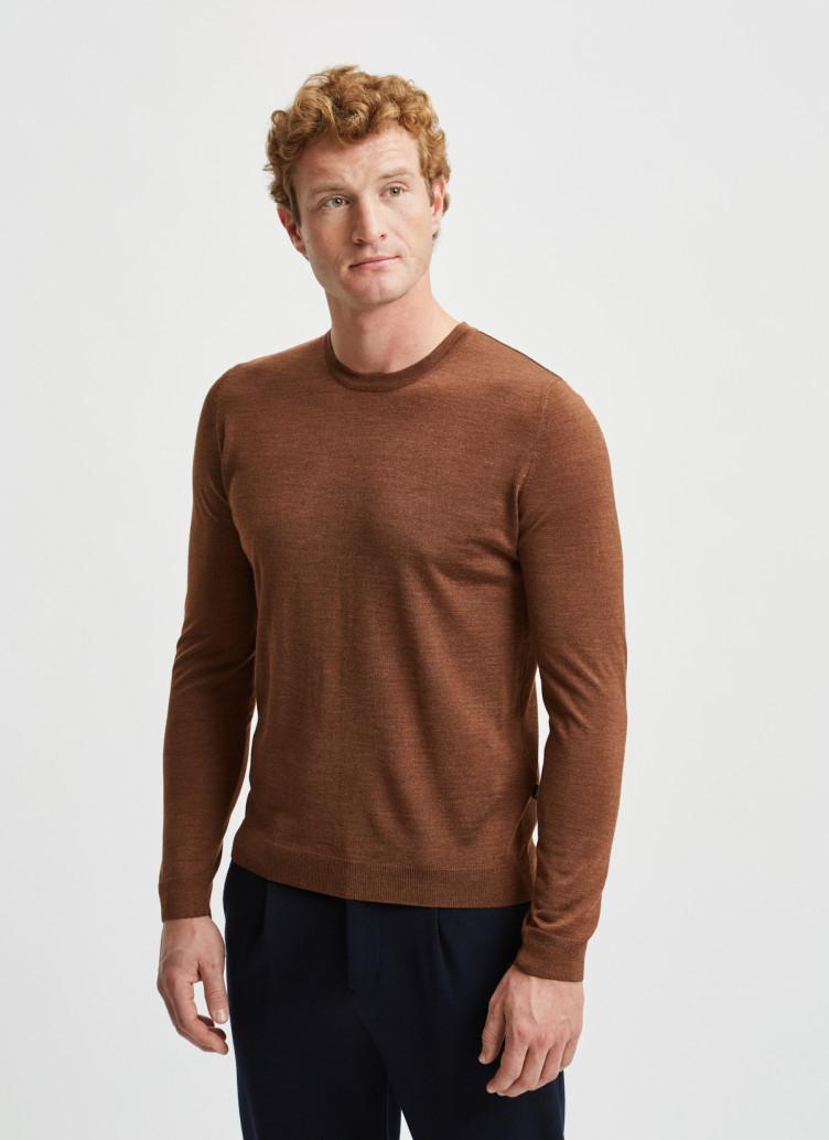 Rundhalspullover Merino Silk Cashmere / Pullover Rundhals 1/1 Arm