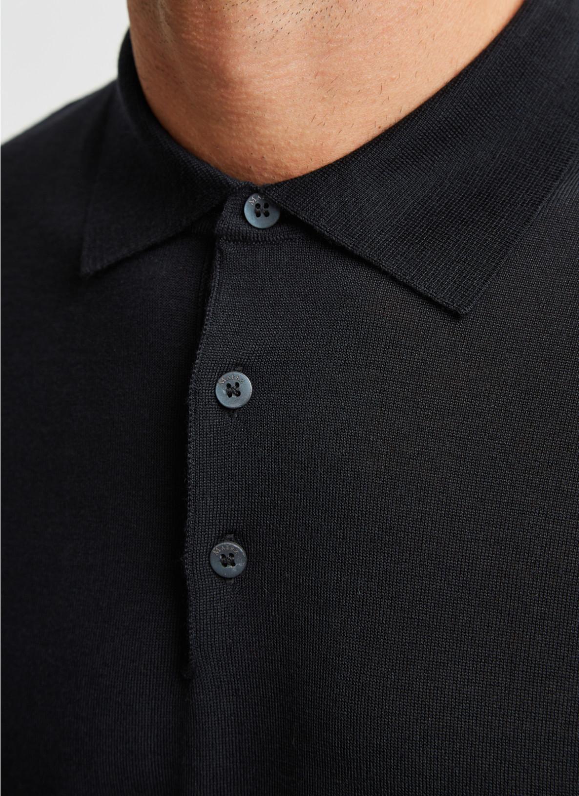 Pullover Polokragen, Knopf 1/1 Arm, BlackDetailansicht 1